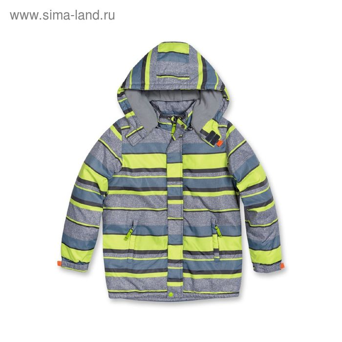 Куртка для мальчика, 11 лет, зелёные полоски BZWL461/1