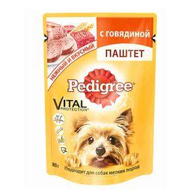 Влажный корм Pedigree для собак мелких пород , паштет говядина, пауч, 80 г Ош