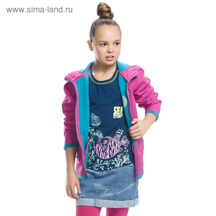 Ветровка для девочки. 9 лет. цвет фуксия GZIM491/1