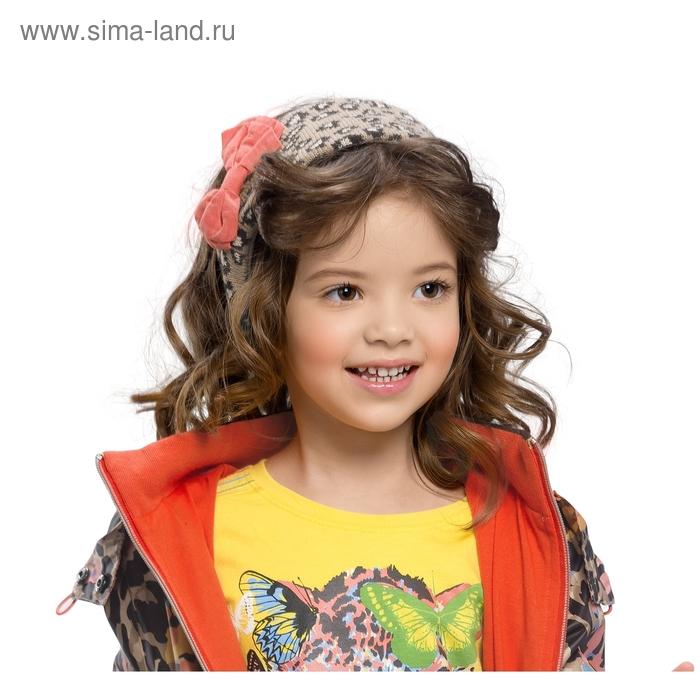 Шапка (повязка) для девочки, размер 50-51, принт леопард GQ388