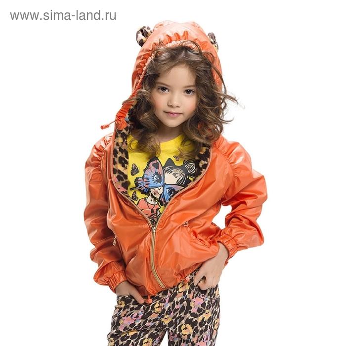 Ветровка для девочки, 5 лет, цвет красный мандарин GZIM388