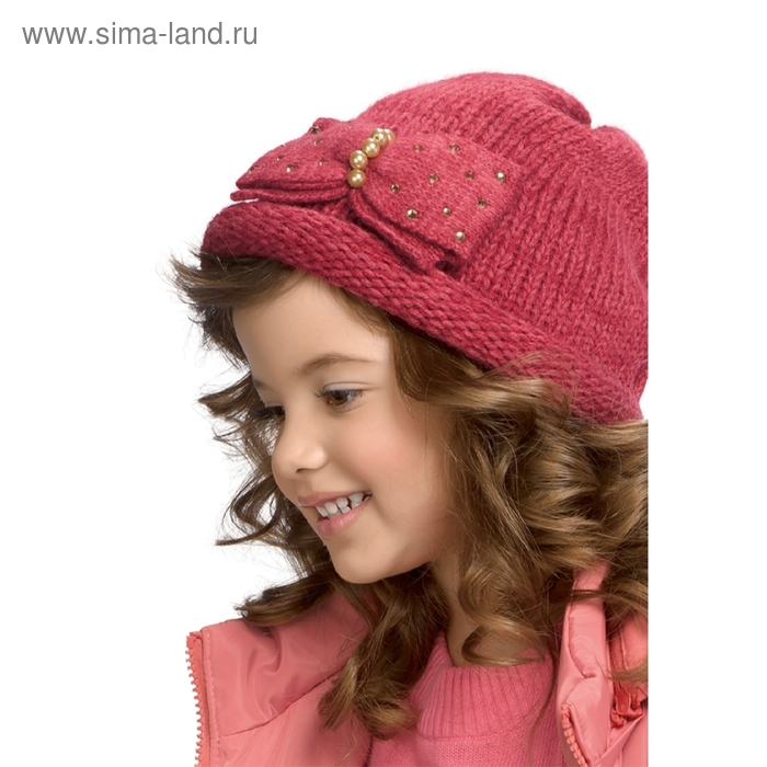 Шапка для девочки, размер 50-51, цвет ягодный GQ378/3