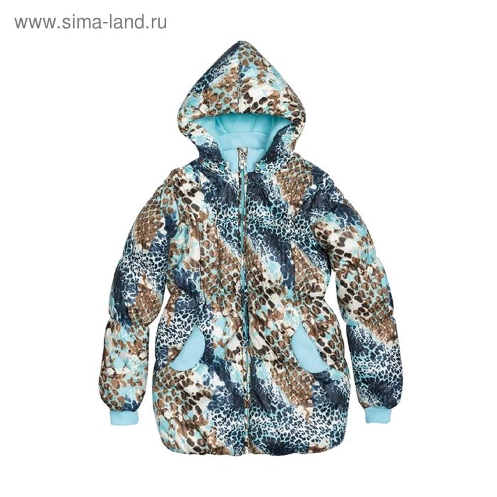 Куртка для девочки, 7 лет, снежный леопард GZWL482/1
