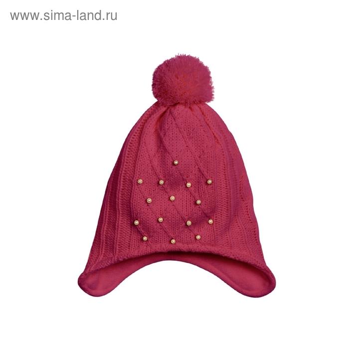 Шапка для девочки, размер 51-52, цвет ягодный GQ483