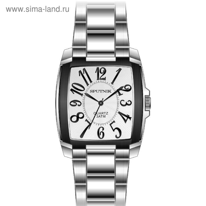 """Часы наручные мужские """"Спутник"""", металлический циферблат, металлический браслет"""