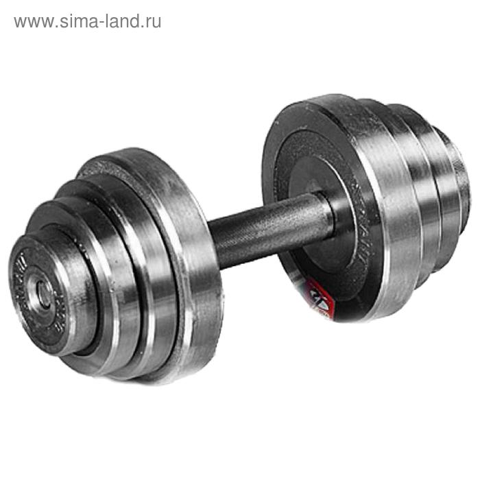 Гантель разборная 26 кг, хромированная сталь