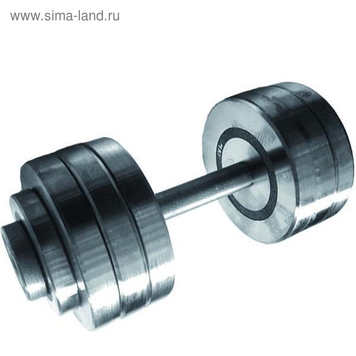 Гантель разборная 45 кг, хромированная сталь