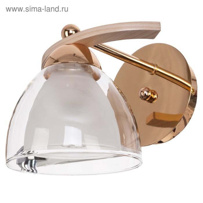 """Бра модерн """"Амели"""" 1 лампа 60W Е14 основание золото 22х17х16 см"""
