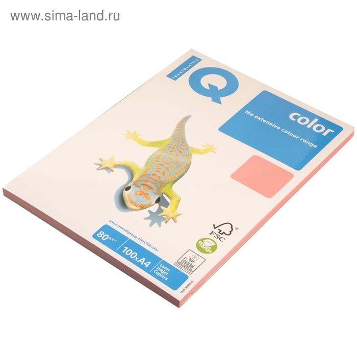 Бумага цветная IQ COLOR Pale (А4,80г,PI25-розовый) пачка 100л, А+