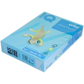 Бумага цветная А4 250 л, IQ COLOR Intensive, 160 г/м2, синий, AB48