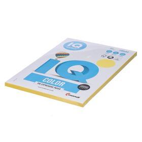 Бумага цветная А4 100 л, IQ COLOR Intensive, 80 г/м2, желтый, CY39