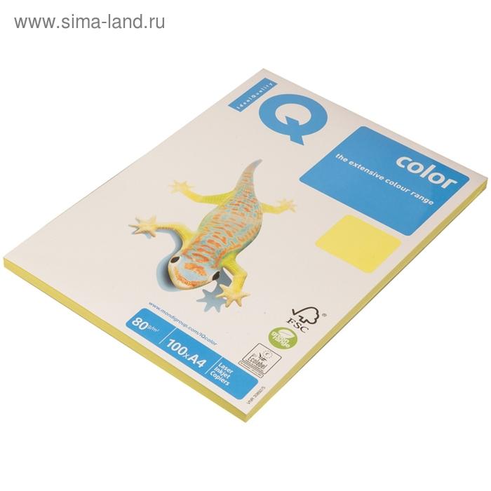Бумага цветная IQ COLOR trend (А4,80г,ZG34-лимонно-жёлтый) пачка 100л