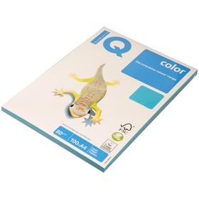 Бумага цветная А4 100 л, IQ COLOR Intensive, 80 г/м2, синий, AB48