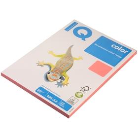 Бумага цветная А4 100 л, IQ COLOR Neon, 80 г/м2, розовый неон, NEOPI