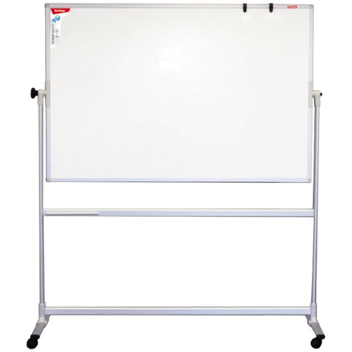 Доска магнитно-маркерная 100х150 см, Premium, двусторонняя, поворотная, мобильная