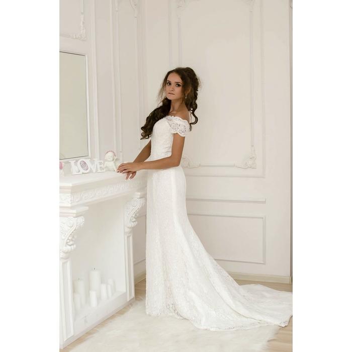 """de4cd8af6905119 Свадебное платье """"Жозефина"""" молочное, с шлейфом, ручная вышивка  стеклярусом ..."""
