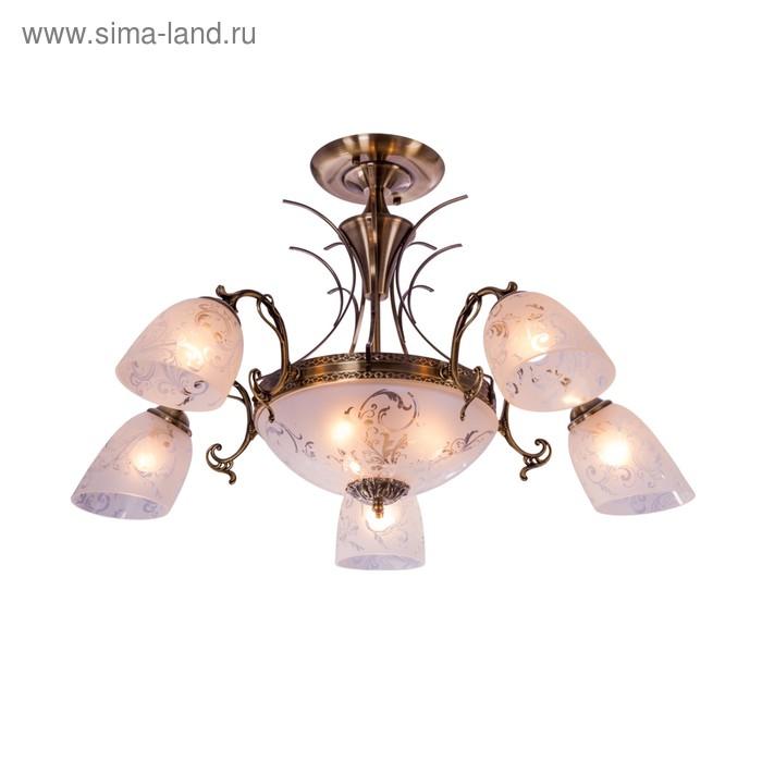 """Люстра классика """"Растительный узор"""" 8 ламп 60W Е27 основание античная бронза 80х80х55 см"""