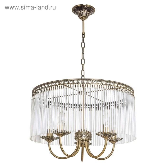 "Люстра хрусталь классика ""Аделина"" 5 ламп 60W Е14 основание античная бронза 50х50х32 см"
