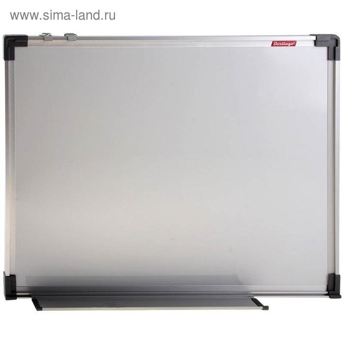 Доска магнитно-маркерная 90*120, алюминиевая рамка, полочка