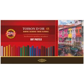 Пастель сухая художественная 48 цветов, Soft Koh-I-Noor TOISON D`OR 8586