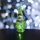 """Игрушка световая """"Ёлочка снеговик"""" (батарейки в комплекте) 14 см, 1 LED, RGB, ЗЕЛЕНАЯ"""