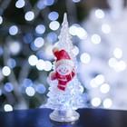 "Игрушка световая ""Ёлочка снеговик"" (батарейки в комплекте) 18,5 см, 1 LED, RGB, ПРОЗРАЧНАЯ"