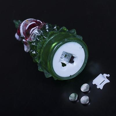 """Игрушка световая """"Ёлочка снеговик"""" (батарейки в комплекте) 18,5 см, 1 LED, RGB, ЗЕЛЕНАЯ"""