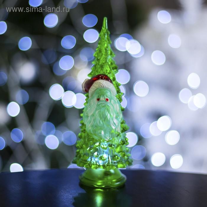 """Игрушка световая """"Ёлочка Дед мороз"""" (батарейки в комплекте) 18,5 см, 1 LED, RGB, ЗЕЛЕНАЯ"""