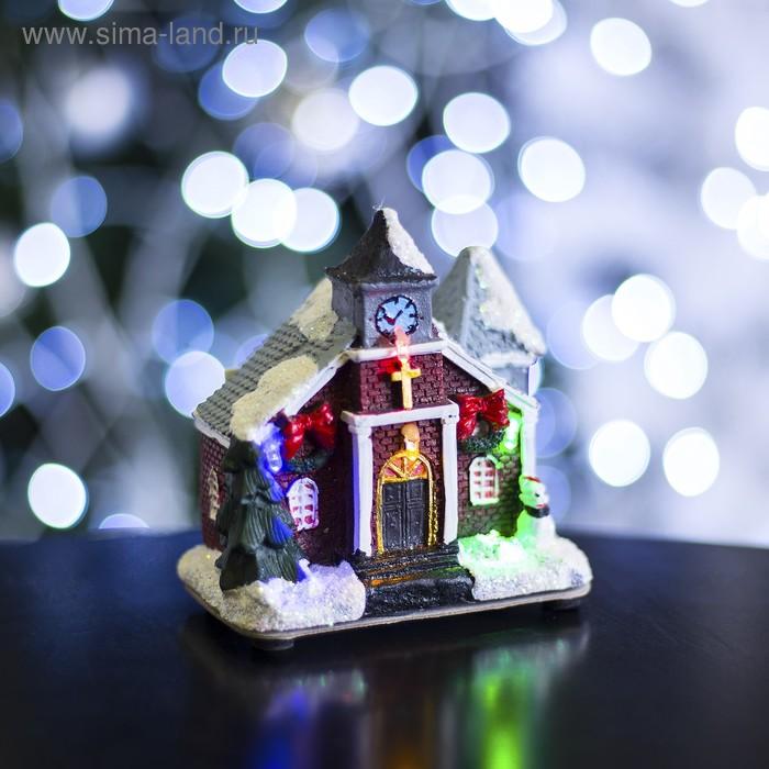 """Фигурка светящаяся """"Новогодний домик"""" 9,5х6х10 см"""