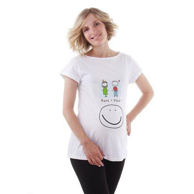 """Футболка женская Collorista """"Папа+мама"""", размер XL(50), цвет белый, хлопок 100%"""