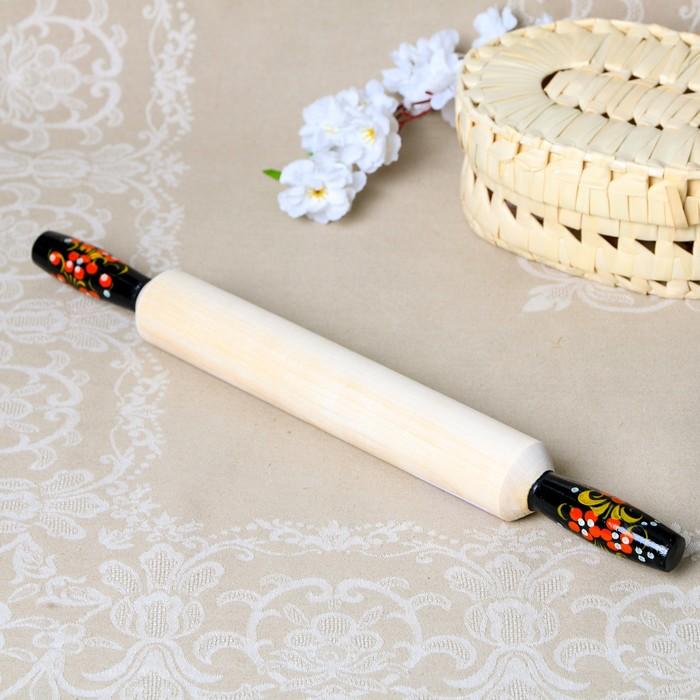 Скалка, ручки с росписью «Хохлома», микс