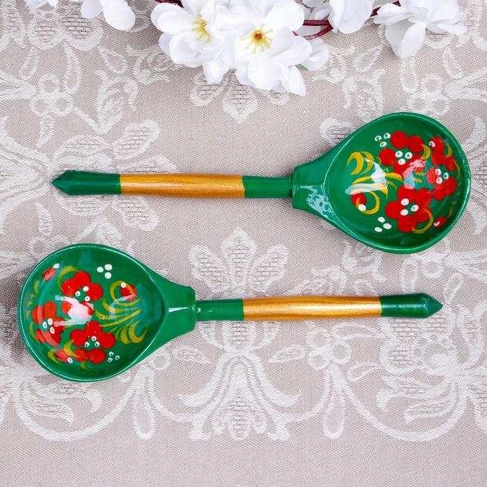 Ложка «Зеленушка», столовая, 19×6 см, хохлома, микс