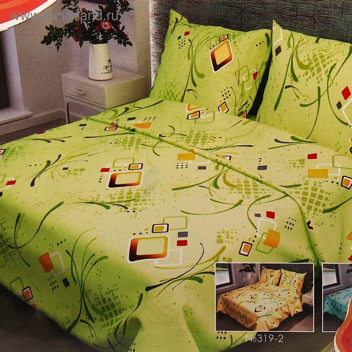 """Постельное бельё 2 сп., Фея """"Вальс"""", цвет зелёный 319-1, размер 175х210 см, 175х210 см, 70х70 см - 2 шт., бязь, 105 г/м2"""