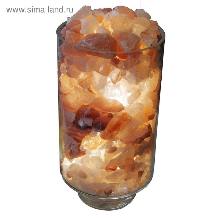 Лампа с солью стеклянная большая