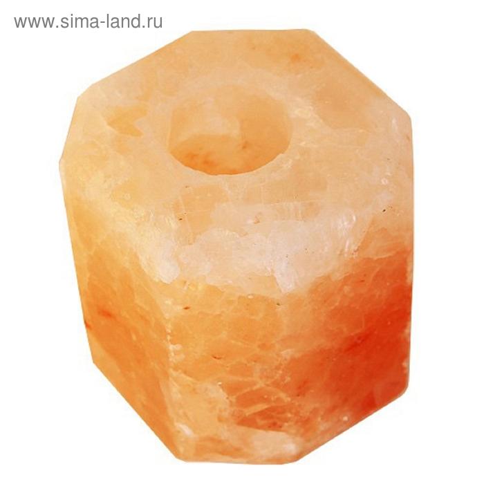 Подсвечник шестигранный из соли