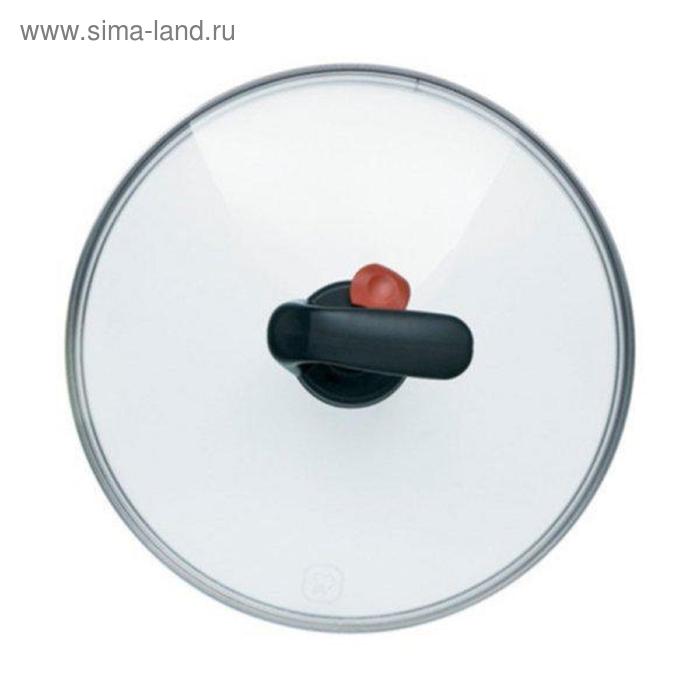 Крышка стеклянная с автом. клапаном для выпуска пара 28 см. Rondell 28 TFG