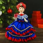 """Авторская сувенирная кукла на чайник """"Купчиха в синем"""""""