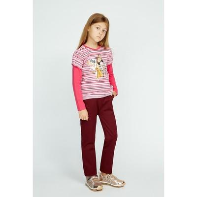 """Кофточка с длин.рукавом для девочки """"Мотылек"""", рост 116 (60), цвет розовый"""