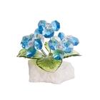 Хрустальные цветы на мраморе №26 AG