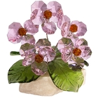 Хрустальные цветы на мраморе №26 ROS