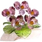 Хрустальные цветы на мраморе №26 RV