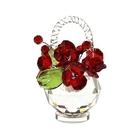 Хрустальные цветы в корзинке №33 RED