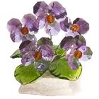Хрустальные цветы на мраморе №26 W