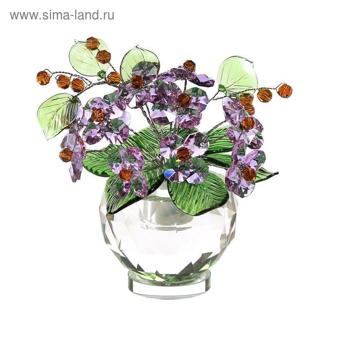 Хрустальные цветы в вазочке №53 VL