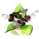 Хрустальные цветы на мраморе №28 BLV