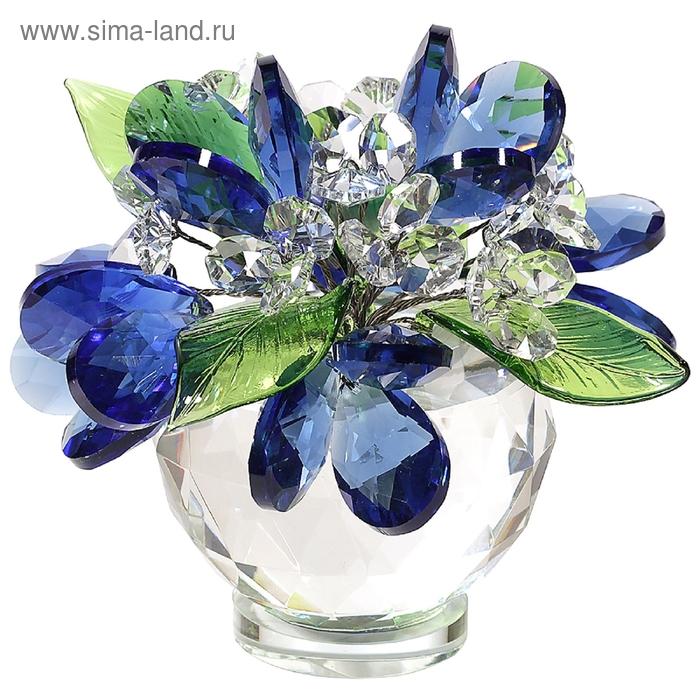 Хрустальные цветы в вазочке №61 DS