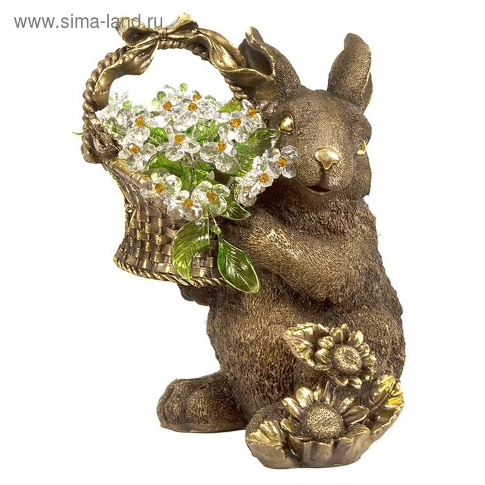 """Статуэтка """"Кролик с хрустальными цветами"""" LT TOP"""