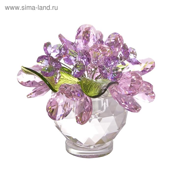 Хрустальные цветы в вазочке №61 RVL