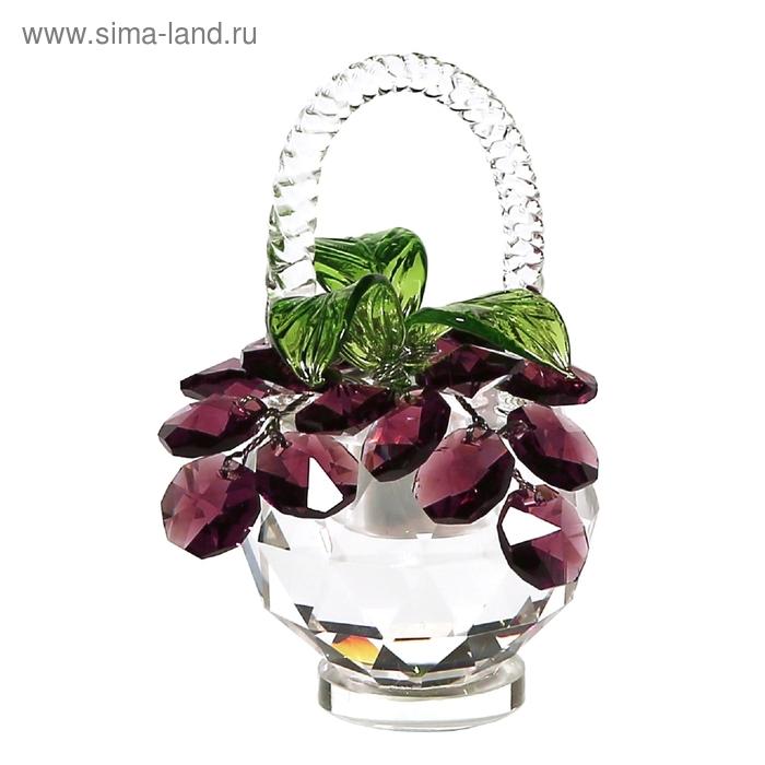 Хрустальные цветы в корзинке №34 VIN