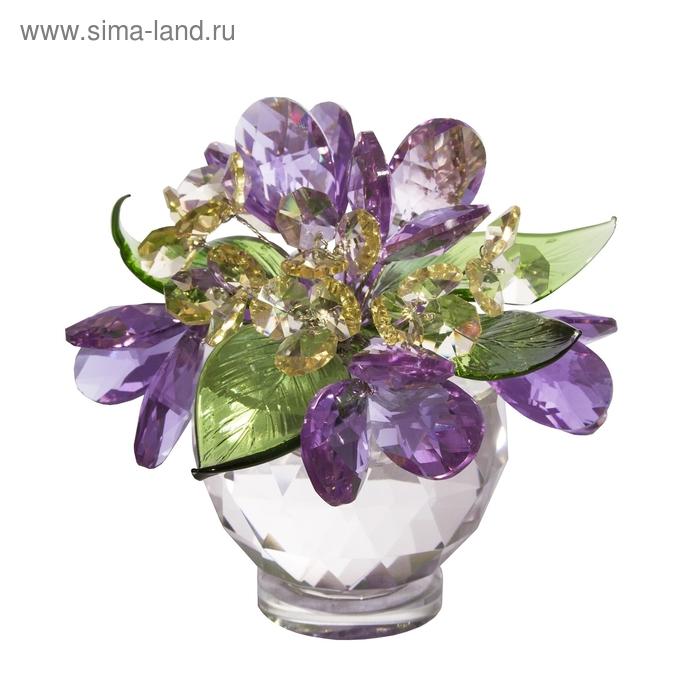 Хрустальные цветы в вазочке №61 VLM